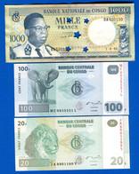 Congo  Ex  Belge  6  Billets - República Del Congo (Congo Brazzaville)