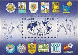 BRAZIL - SS 80th ANNIVERSARY OF FIFA, FÉDÉRATION INTERNATIONALE DE FOOTBALL ASSOCIATION 1984 - MNH - Otros