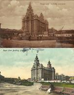 Liverpool. - Royal Liver Building (deux Cartes). - Other