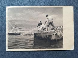 OHRID FISHERMEN MAKEDONIJA MACEDONIA, RIBARI, Postcards Traveled 1948 (Y2) - Macedonia