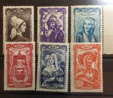 FRANCE 1943 Série 593 à 598 Neuf** - Neufs