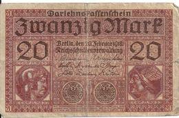 ALLEMAGNE 20 MARK 1918 VG+ P 57 - 20 Mark