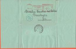 ITALIA - ITALY - ITALIE - 1953 - 25 EMA,Red Cancel - Banca Cassa Dei Risparmi Di Forlì - Piego - Avviso Di Pagamento - V - Machine Stamps (ATM)