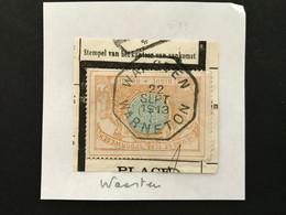 TR33 Telegraafstempel WAASTEN WARNETON - 1895-1913