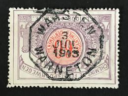 TR37 Telegraafstempel WAASTEN WARNETON - 1895-1913