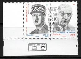 France 2020.Général De Gaulle.Cachet Rond Gomme D'origine. - Used Stamps