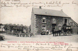 Nassogne  Café Vve Bolle-Milet Et Malle Poste Au Repos Des Voyageurs Circulé En 1905 - Nassogne