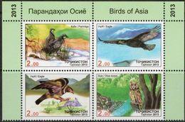 Tajikistan 2013 MiNr. 643 - 646  Tadschikistan Birds Owls Eagles Partriges 4v  MNH** 9,50 € - Adler & Greifvögel