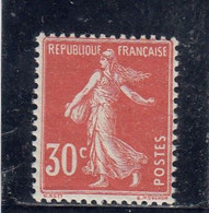 France - Année 1921-22 - N°YT 160** - Neuf** - Type Semeuse Fond Plein - 30c Rouge - Nuovi