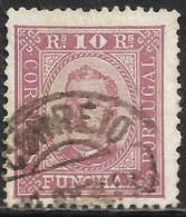 Funchal – 1892 King Carlos 10 Réis Used Stamp - Funchal