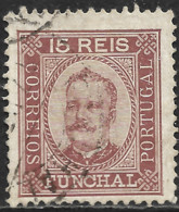 Funchal – 1892 King Carlos 15 Réis Used Stamp - Funchal