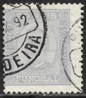 Funchal – 1892 King Carlos 20 Réis Used Stamp - Funchal