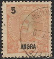 Angra – 1897 King Carlos 5 Réis Used Stamp - Angra
