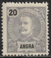 Angra – 1897 King Carlos 20 Réis Mint Stamp - Angra