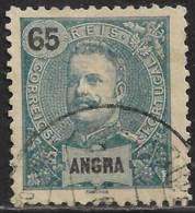 Angra – 1898 King Carlos 65 Réis Used Stamp - Angra