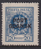 POLAND 1925 Port Gdansk Fi 7 Mint Hinged - Ocupaciones