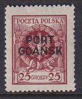 POLAND 1925 Port Gdansk Fi 8 Mint Hinged - Ocupaciones