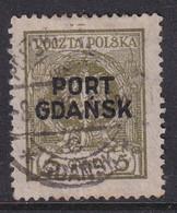 POLAND 1925 Port Gdansk Fi 4 Used - Ocupaciones