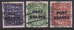 POLAND 1929 Port Gdansk Fi 17-19 Used - Ocupaciones