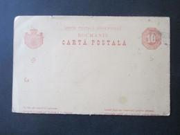 Rumänien Um 1880 Ganzsache Ungebraucht / Blanko Mit Altdeutschland Stempel Ra2 Steg... Event. Steglitz?? - 1858-1880 Moldavia & Principality