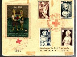 40105 - 4 TP Croix Rouge  + Vignette - 1921-1960: Modern Period