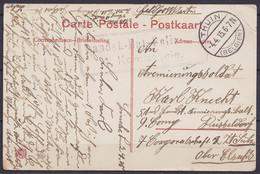"""CP Binche Franchise Feldpost Càpt """"THUIN /-4.4.1915/(BELGIEN)"""" Pour DÜSSELDORF - Cachet Bataillon [Landst.-Bat. … 4. Kom - Esercito Tedesco"""