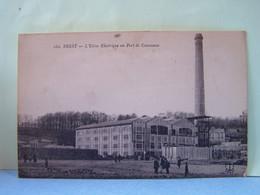 BREST (FINISTERE) LES METIERS. L'USINE ELECTRIQUE AU PORT DE COMMERCE. - Brest