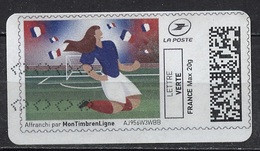 France - Frankreich Timbre Personnalisé Type MTEL LV20-17 (o) - Lettre Verte 20g - Football Féminin - Gepersonaliseerde Postzegels (MonTimbraMoi)