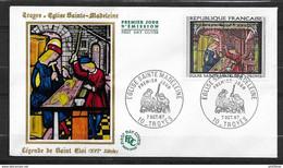 FDC Lettre Premier Jour Cachet Troyes Le 07/10/1967 Le N° 1531 Eglise Ste Madeleine TB - 1960-1969