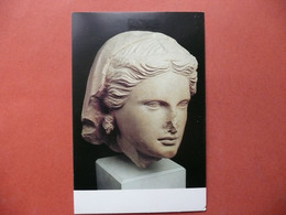 CPM  SCULPTURE  FEMALE HEAD FROM THE TEMPLE OF APHRODITE ARSOS CYPRUS    NON VOYAGEE - Skulpturen