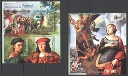 ST2563 2013 MOZAMBIQUE MOCAMBIQUE ART PAINTINGS 530TH ANNIVERSARY RAPHAEL RAFAEL KB+BL MNH - Andere