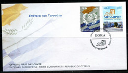 FP2302 Cyprus 2020 And Greece Friendly Flag Building FDC MNH - Otros