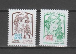 """FRANCE / 2018 / Y&T N° 5234/5235 ** : Ciappa Surchargées """"2013-2018"""" (les 2 Valeurs) X 1 Paire - Ongebruikt"""