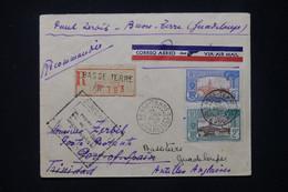 GUADELOUPE - Enveloppe En Recommandé De Basse Terre Pour Port Of Spain (Trinidad) Par 1er Vol En 1935 Et Retour- L 80151 - Lettres & Documents