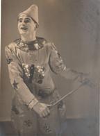 Cirque Clown Autographe Du Clown Jony 1937 . Format 22 X 16 Cm - Autogramme & Autographen