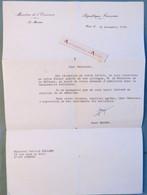 René MONORY Ministre économie Ex Président Sénat - Gendarmerie Nationale - Né à Loudun Lettre 1978 M Balland Limoges - Autogramme & Autographen