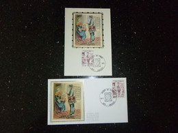 "BELG.1975 1765 FDC Soie & Mcard Zijde (Chatelet) : ""Dag Van De Postzegel - Journée Du Timbre "" - 1971-80"