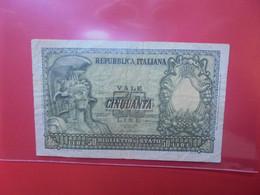 ITALIE 50 LIRE 1951 Circuler ASSEZ BONNE QUALITE (B.21) - 50 Lire