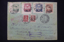 U.R.S.S.  - Enveloppe En Recommandé En 1924 Pour L 'Allemagne Par Avion Avec Série PA Surchargés - L 80157 - Briefe U. Dokumente