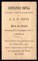 Cartão Publicidade DENTISTA Rua Do Ouro / Tv.Assumpção 103 LISBOA. Old Victorian Trade Card VTC Chromo Portugal 1880 - Other