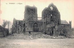 51 FISMES L'EGLISE - Guerra 1914-18