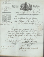 Autographe Louis Marie De Milet De Mureau Général Homme Politique Français Révolution Empire Ministère Guerre Génie - Autogramme & Autographen
