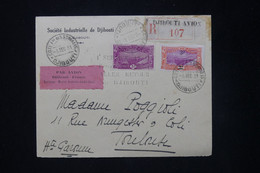 CÔTE DES SOMALIS - Enveloppe Par 1er Vol Djibouti / France En 1931 étiquette Par Avion Avec Noms De L'Équipage - L 80169 - Covers & Documents