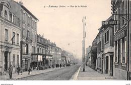 92 .n° 110547 . Antony . Pas Courante .rue De La Mairie .en L Etat .plie . - Antony