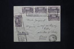 CONGO - Enveloppe Par 1er Vol De Brazzaville Pour La France En 1935, Oblitération Plaisante - L 80172 - Briefe U. Dokumente