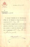 SEGRETERIA DI STATO  ECRIT DU VATICAN DEMANDE DE RAPATRIEMENT FAITE PAR ANGE SOTIE POUR SA FAMILLE 02/1918 - 1914-18