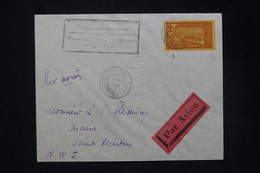 GUADELOUPE - Enveloppe De Basse Terre Pour Le Maire De St Martin En 1936 Par 1er Vol - L 80183 - Lettres & Documents