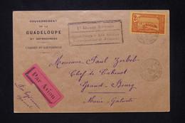 GUADELOUPE - Enveloppe Du Gouverneur à Pointe à Pitre Pour Grand Bourg Par Hydravion Spécial En 1936 - L 80184 - Lettres & Documents