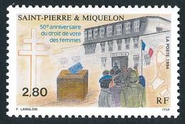 ST-PIERRE ET MIQUELON 1994 - Yv. 597 **   Faciale= 0,43 EUR - Droit De Vote Des Femmes  ..Réf.SPM12050 - Unused Stamps