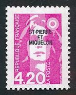 ST-PIERRE ET MIQUELON 1993 - Yv. 572 **   Faciale= 0,64 EUR - Mar.Bicentenaire 4f20 Rose Avec Surcharge  ..Réf.SPM12001 - Neufs